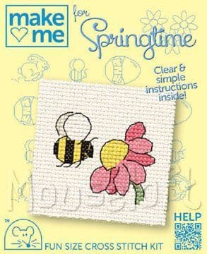 Mouseloft Bee Make Me For Springtime cross stitch kit